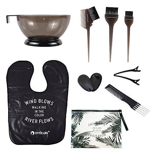 HYOUJIN 11Pcs Hair Dye Coloring DIY Tools Beauty Salon Tool Kit ...