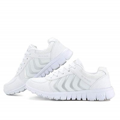 Smart white trainers 3