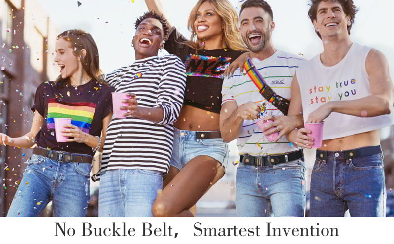 No Buckle Stretch Belt for Women