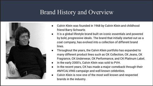 A brief history of Calvin KLEIN brand 1 1