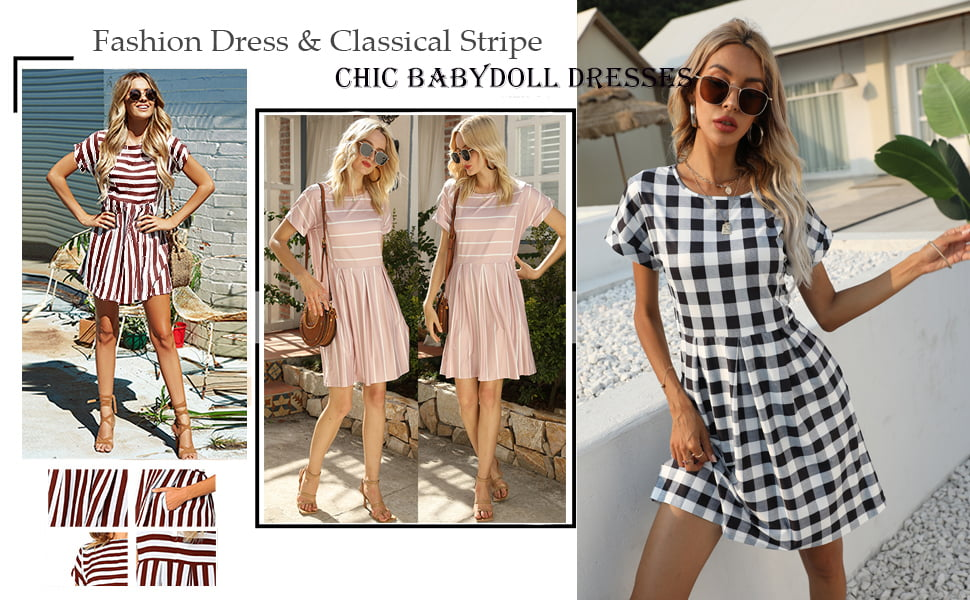 Naggo womens summer striped shirt
