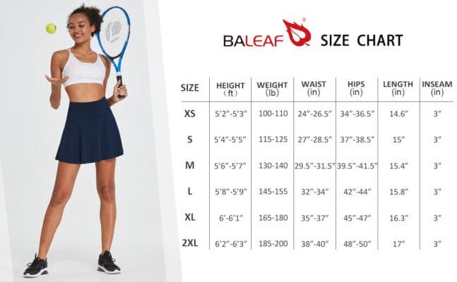 BALEAF Womens High Waisted Activewear Skirt
