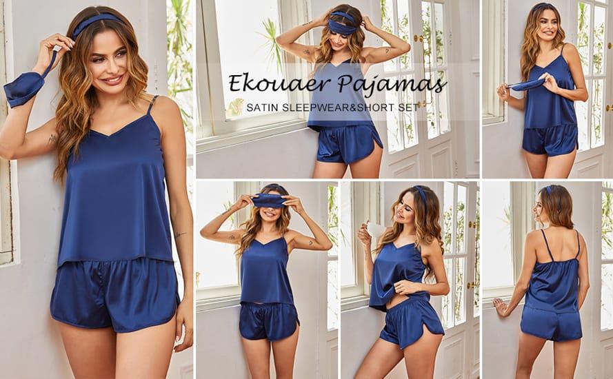 Ekouaer Silk Womens Pajamas