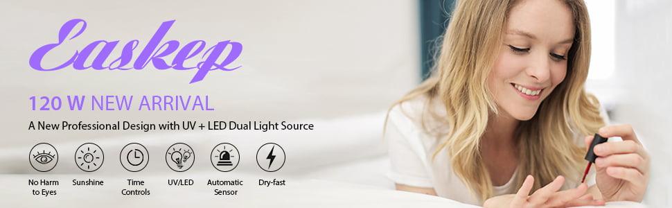 Easkep 120W UV LED Nail Dryer