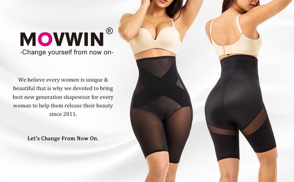 MOVWIN Tummy Control Body Shaper Shorts