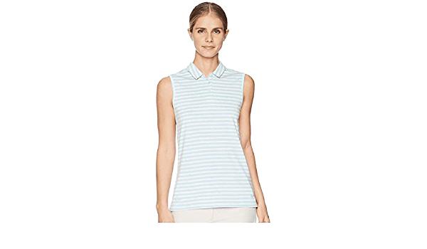 PGA TOUR Womens Airflux Sleeveless Golf Polo Shirt