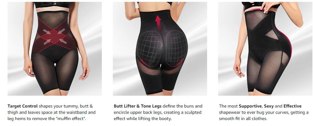 Tummy Control Body Shaper Shorts