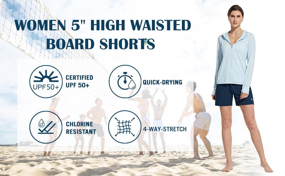 Kanu Surf Womens Breeze Solid Stretch Boardshort
