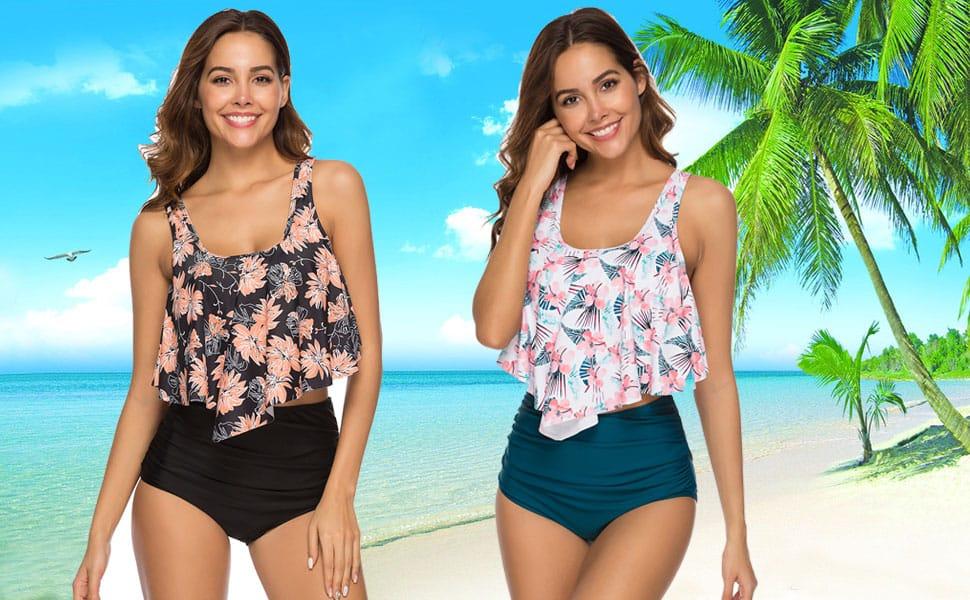 Two Piece Tummy Control Swimwear