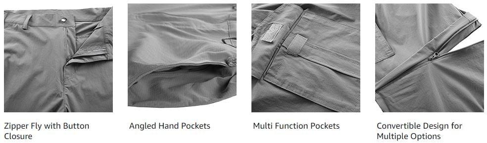 Unitop Women's Hiking Convertible Cargo Pants