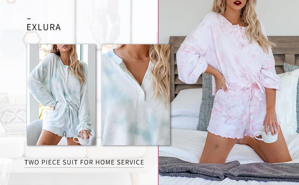 Exlura Womens Short Pajama Set